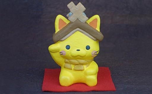 【伝統芸技術で作られた「しまねっこ招き猫」】