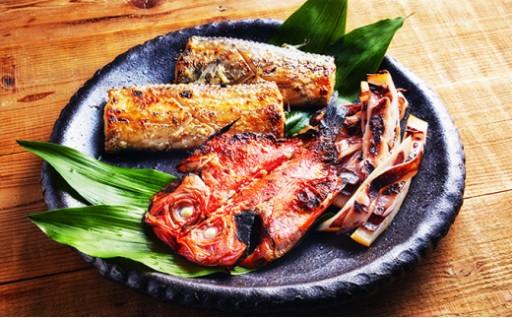 地魚の塩麹(釣金目鯛、太刀魚、アオリイカ)
