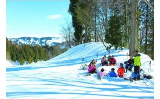 豪雪地帯のスノーシューツアー!!@新潟県十日町市