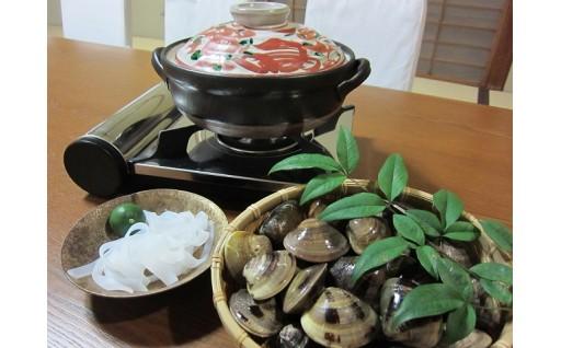 日の出 桑名産天然はまぐり鍋セット(出汁付)