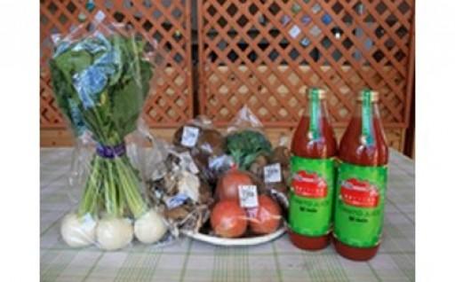 笑顔になれる!トマトジュース&地場野菜セットです
