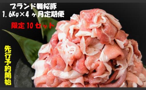 【1.6Kg×4ヶ月定期便】かごしま舞桜豚