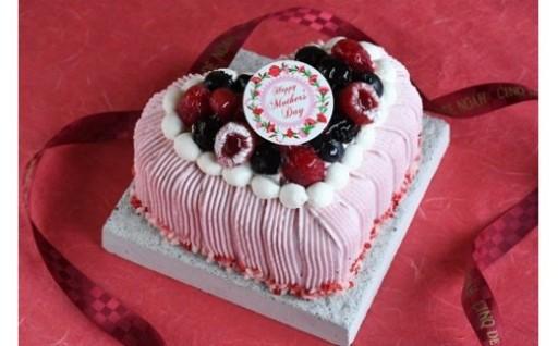 母の日にぴったり可愛いケーキ プリンセスハート