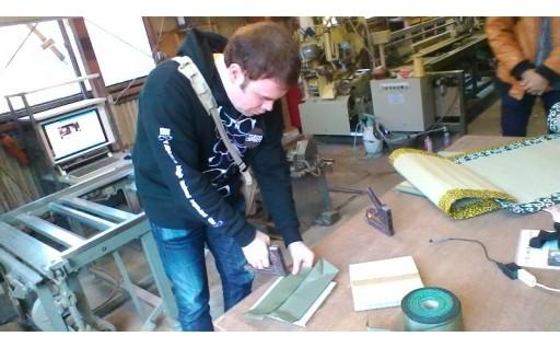 畳工場見学と畳製作体験(インテリアミニ畳等)