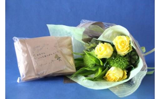 【父の日の贈り物】バラの花束とコーヒーのセット