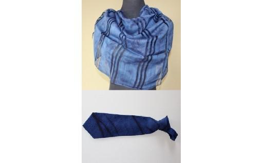 日本遺産認定『藍』!本藍染絞りネクタイとストール