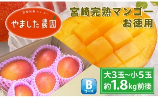 ご家庭用宮崎完熟マンゴーお徳用1.8kg
