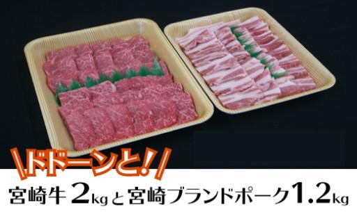 延岡育ちの宮崎牛・宮崎ブランドポーク焼肉セット