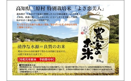 新米「よさ恋美人」 数量限定 8月末 発送予定!