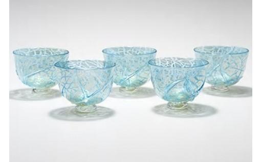 ガラス作家による冷茶グラス