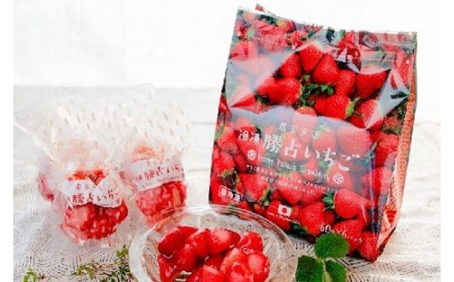 【8/1NEW】冷凍勝占いちご 3袋セット