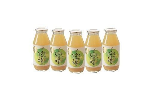 二十世紀梨を使ったジュース、冷やしてゴクゴク♪