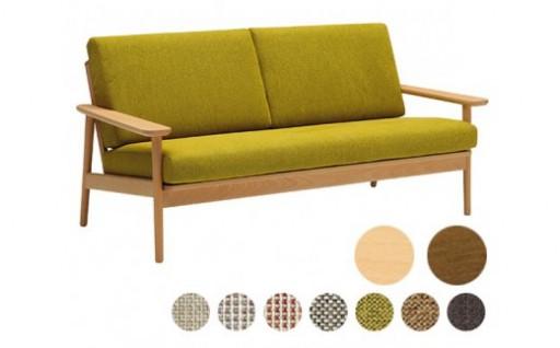 [カリモク家具]布張り長椅子(カバーリング仕様)