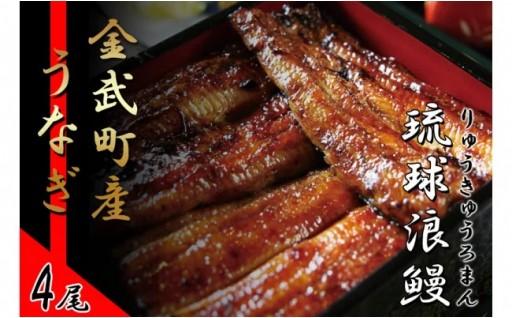 金武町産「琉球浪鰻」のうなぎ蒲焼セット 4尾