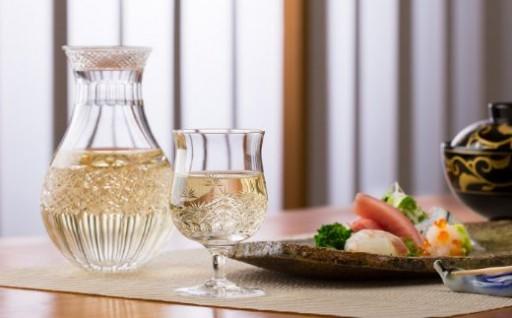 カガミクリスタル 江戸切子 冷酒杯<和乃美・梅>