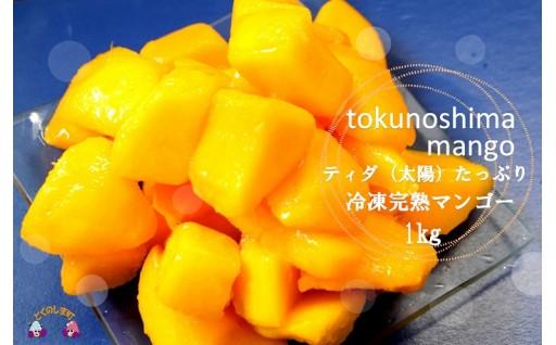 徳之島産冷凍完熟マンゴー1kg寄附12,000円