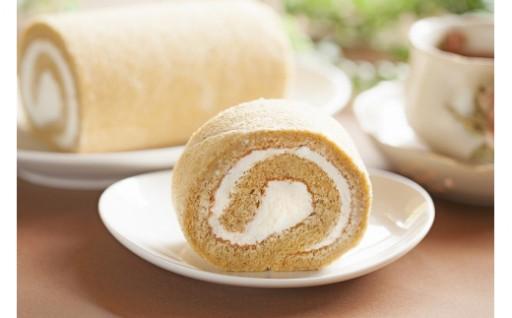 玄米ブランのロールケーキ
