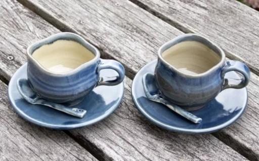 あすもり窯のコーヒーカップ【藍色】