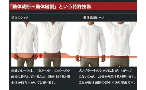 シャツ「動体裁断+動体縫製」という特許技術!