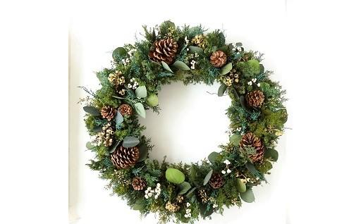 クリスマス限定!直径70㎝の巨大リース登場!