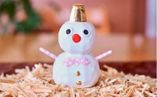 クリスマスに★奈良一刀彫 雪ん子だるま
