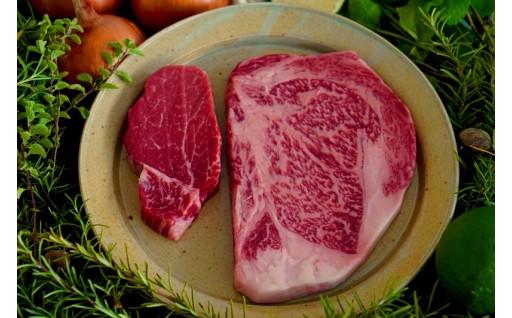 (佐賀県産和牛)ヒレ肉とサーロインのステーキ