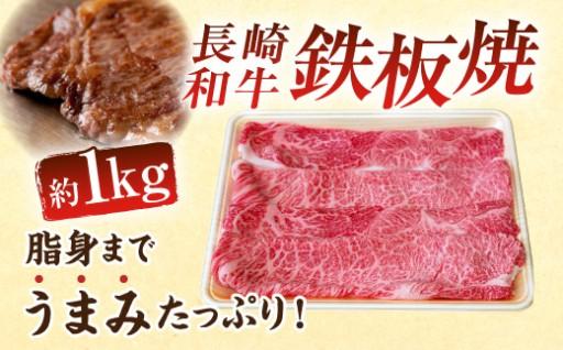 長崎和牛 鉄板焼 1kg 冷凍