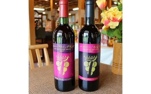 【純日本ワイン】小坂七滝ワイン(赤)2本セット