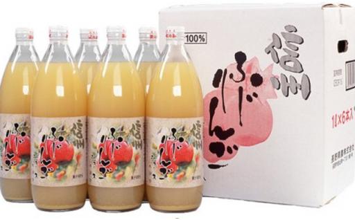 【大容量サイズ】信州ふじりんごジュース 1L×6
