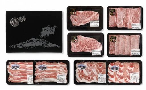 「肉質等級5等級」 鹿児島黒牛・鹿児島黒豚セット