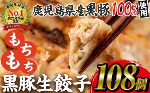 届いてびっくり!108個の鹿児島黒豚餃子!