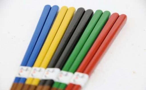 【5色の色漆】うるし五色箸(ごしきばし)