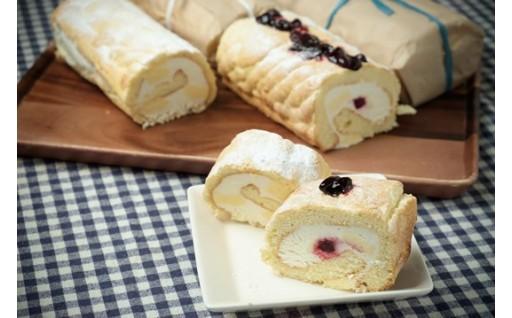 自家製無農薬てんさい糖を使用したロールケーキ!