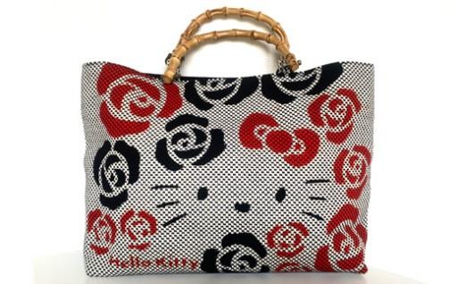 ハローキティ刺子生地バッグ(白)キティちゃん