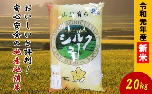 大阪エコシルク21(キヌヒカリ)新米20kg