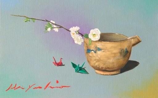 八代亜紀 油彩画 特別プラン 絵画 1点 植物