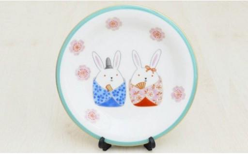A10-110 香蘭社 ひな祭り(うさぎ)飾り皿