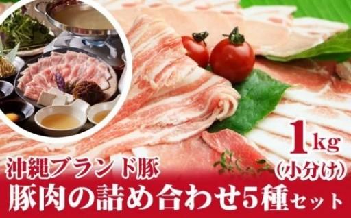 豚肉の詰め合わせ5種セット1kg(小分け)
