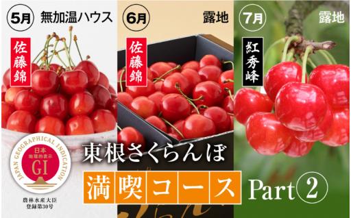 収穫時期と品種の違うさくらんぼを食べ比べ!