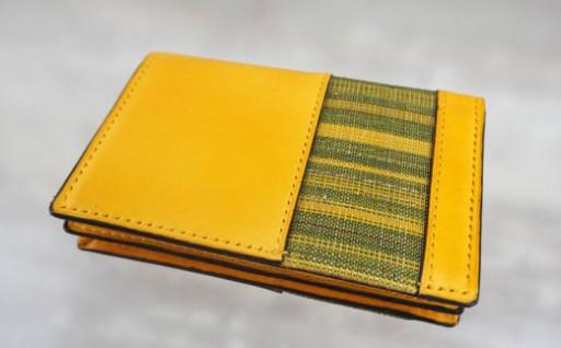 【重要無形文化財】喜如嘉の芭蕉布 カード入《黄》
