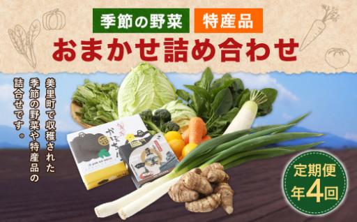 季節の野菜及び特産品を【定期便】にてお届けします