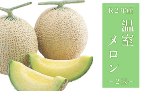 【先行受付】温室メロン(マスクメロン)2玉
