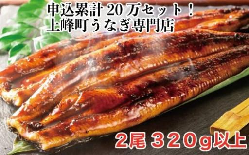 160g×2尾 国産うなぎ蒲焼【鰻専門店の味】