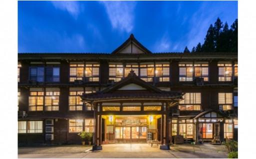 宮大工の造った木造三階客室@松之山温泉