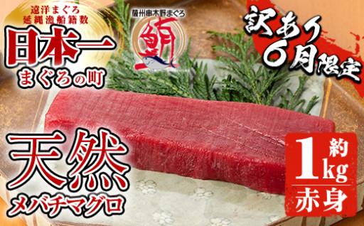 【訳あり】6月限定!天然メバチマグロ赤身 約1㎏