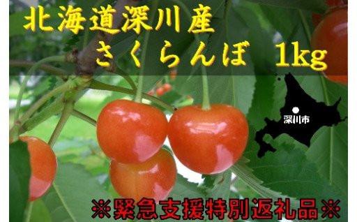 ★深川産さくらんぼ 1kg★ 「初夏の果実」