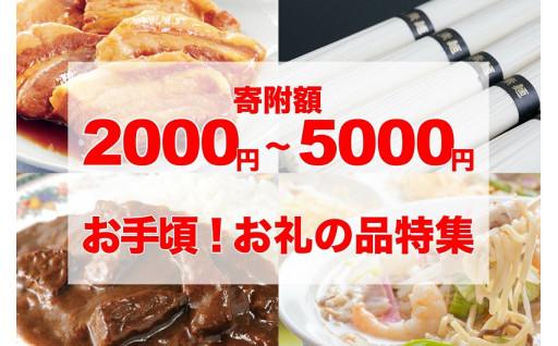 寄附額2000円~5000円 お手頃!お礼の品