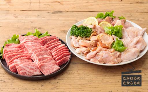 宮崎牛×国産鶏肉 「ファミリー焼肉セット」