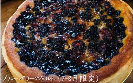 里桜庵の季節限定ブルーベリータルト受付開始です