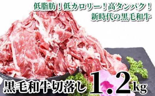 【新】低脂肪・高コスパ!黒毛和牛切落し1.2kg